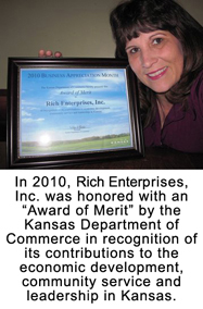In 2010, Rich Enterprises Inc was honored with the Award of Merit.